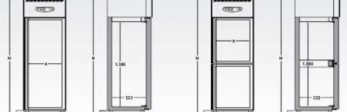 Armario frigorífico Mod. AF 10-1/AF 10-2