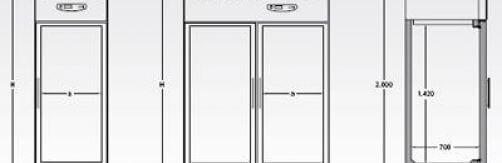 Armario frigorífico · Gastronorm 2/1 Mod. G-V