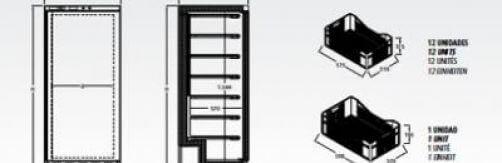 Armario de congelación con cestas Mod. ACC 522