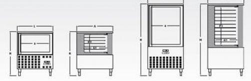 Abatidor refrigerador y abatidor congelador · Gastronorm 1/1 ó 600 x 400