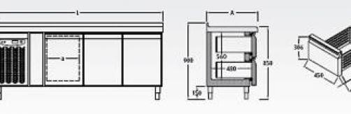 Bajomostrador frigorífico Mod. BMC